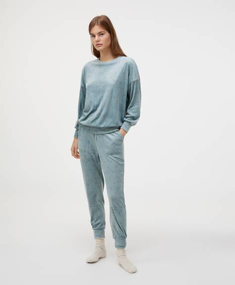 Diamond fleece trousers