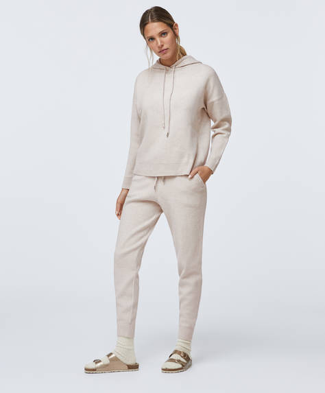 Fine-knit trousers