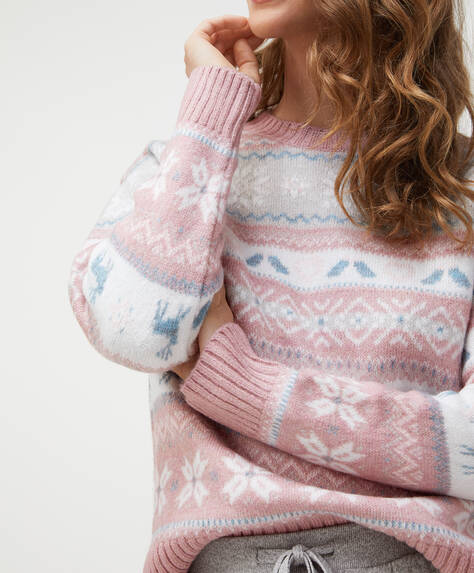 Pastel stripe pattern jumper