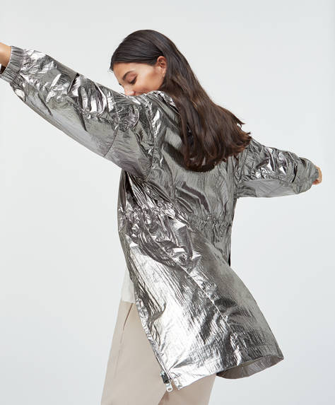 Silver lightweight jacket