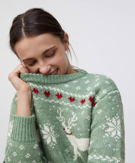 Sweater med rensdyr