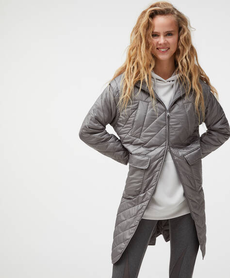 Long padded convertible parka