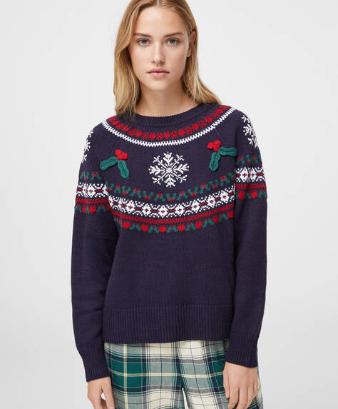 Christmas embroidery jumper