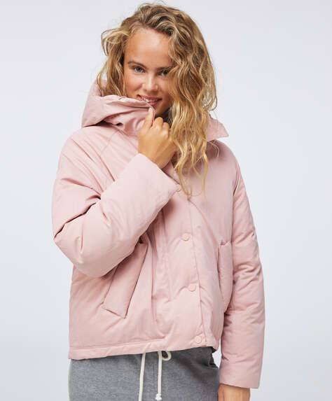 Pink water-repellent padded jacket