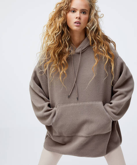 Sweat effet mouton oversize
