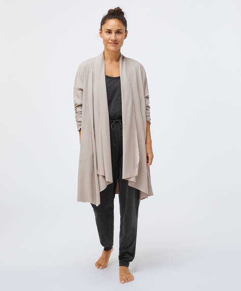 Organic cotton open jacket