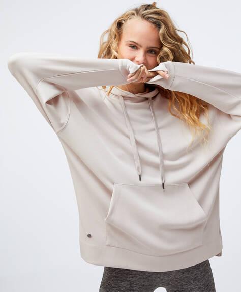Long soft-touch sweatshirt