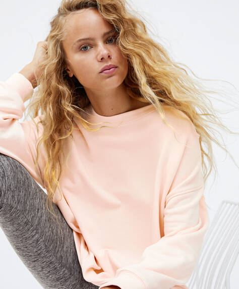 Oversize cotton sweatshirt