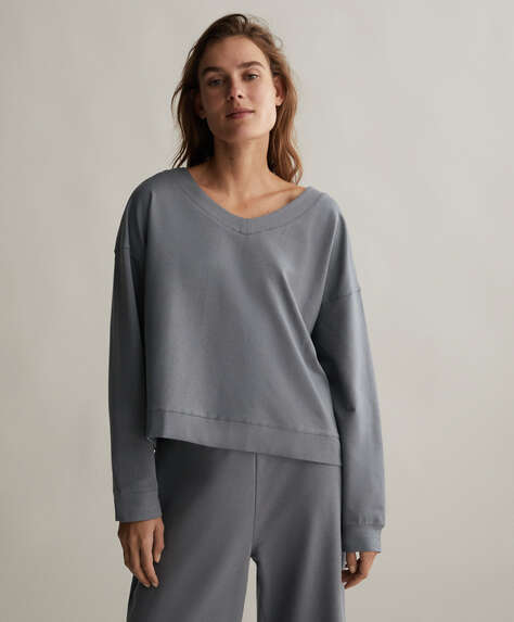 Fine brushed sweatshirt