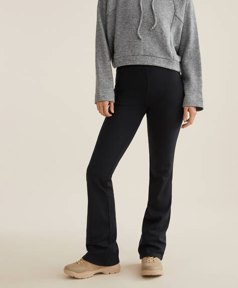 Extra warme flare broek
