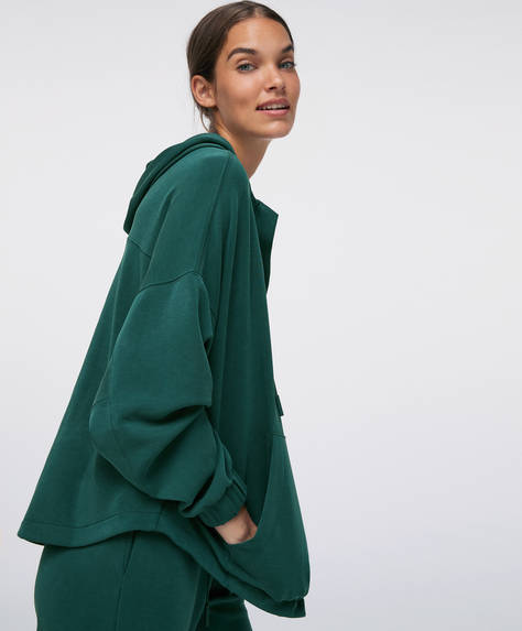 Soft touch sweatshirt with large front pocket