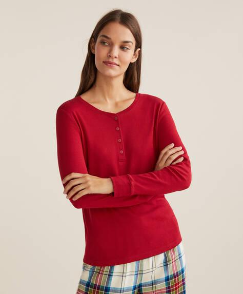 Einfarbiges Shirt aus 100% Baumwolle