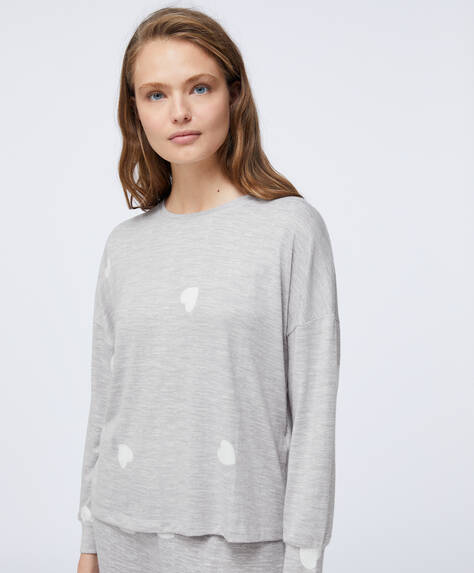 Soft feel-top met hartjes