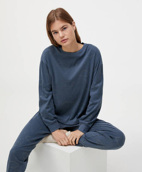 Camiseta 100% algodón nubes