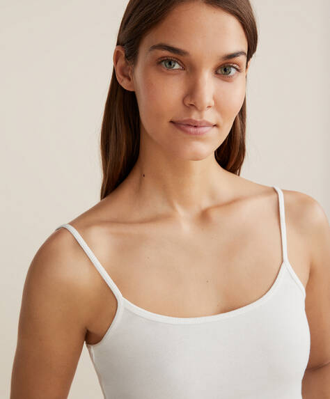 Plain 100% cotton camisole