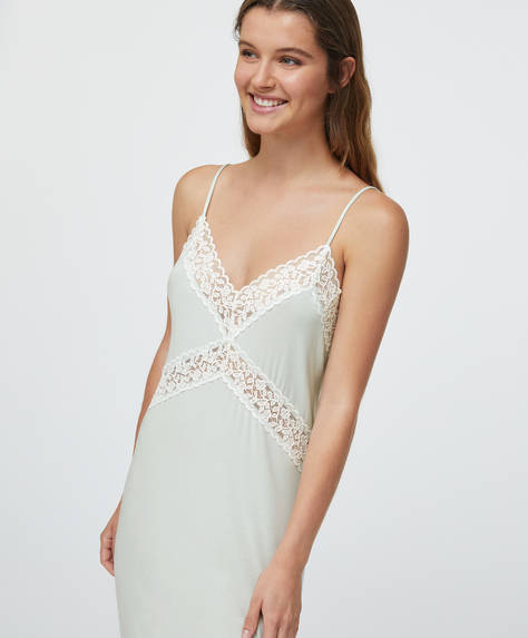 Leaf lace nightdress