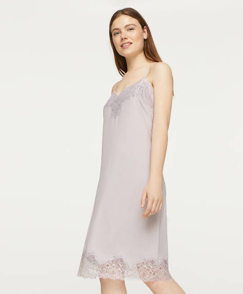Satin midi nightdress