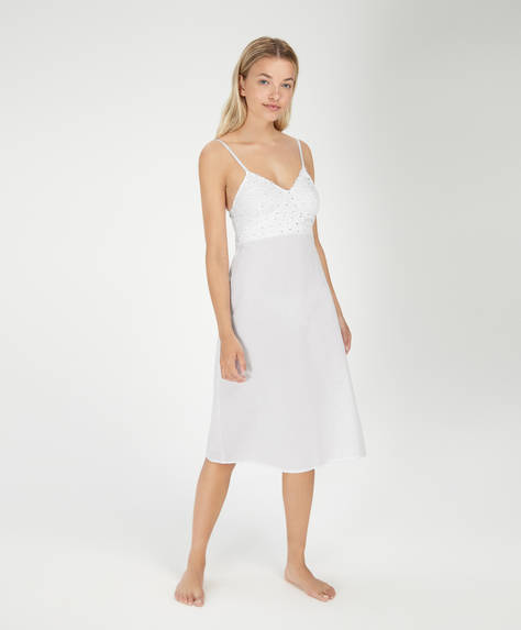 Cotton midi nightdress