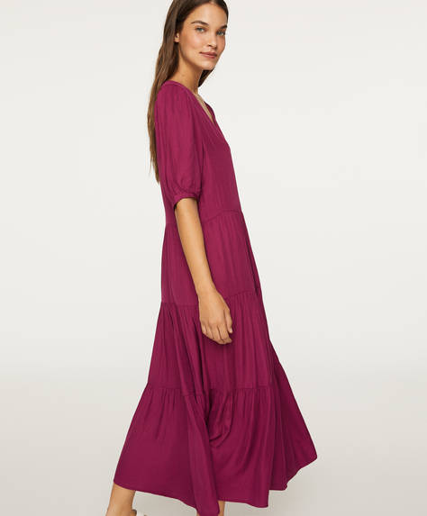 Short-sleeved oversize dress