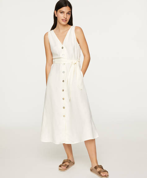 Sleeveless linen dress