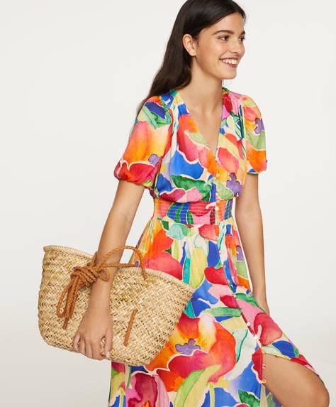Long maxi-floral dress