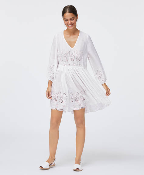 Short cotton broderie anglaise dress