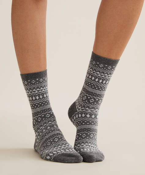 5 pairs of patterned crew socks