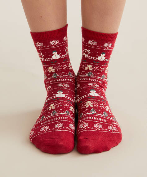 3 pairs of Christmas jacquard socks