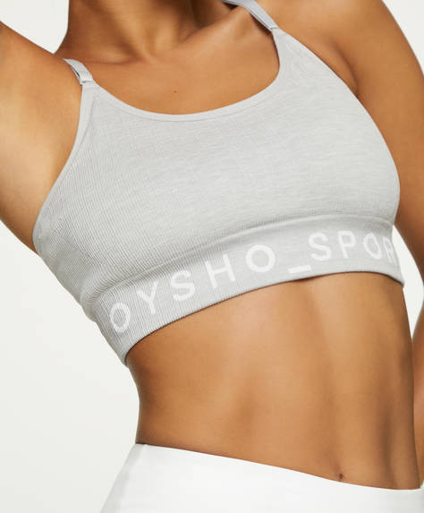 Seamless sports bra with logo