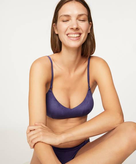 Bikinitop in suèdelook