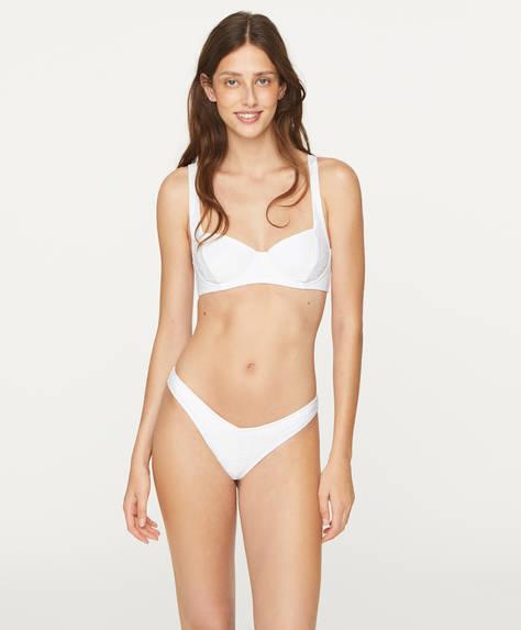 Brasiliansk bikinitrosa jacquard V-snitt