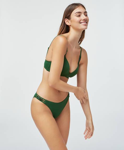 Bas de bikini classique à perles