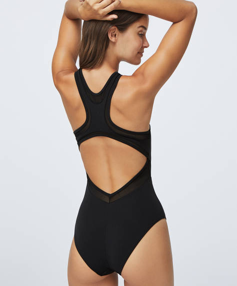 Mesh compression swimsuit