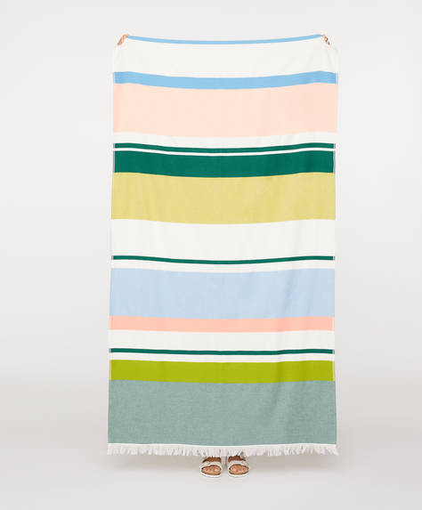 Multicolour stripe towel