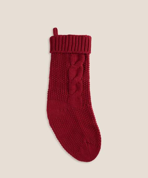 Calcetín decoración Navidad