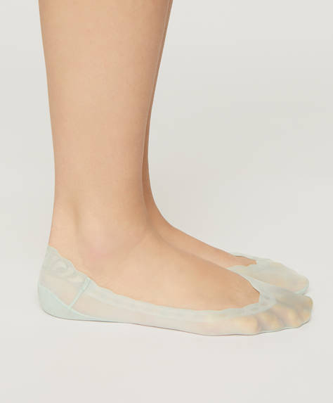 Pack of 2 pairs of scalloped footsies