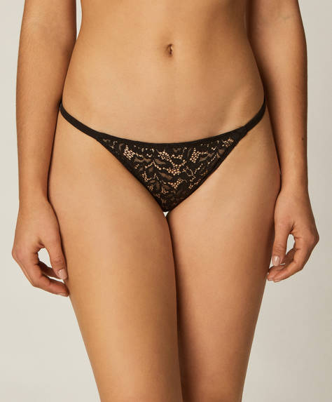 3 strappy lace Brazilian briefs