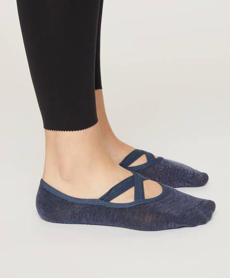 1 paire de chaussettes de sport pour yoga et pilates