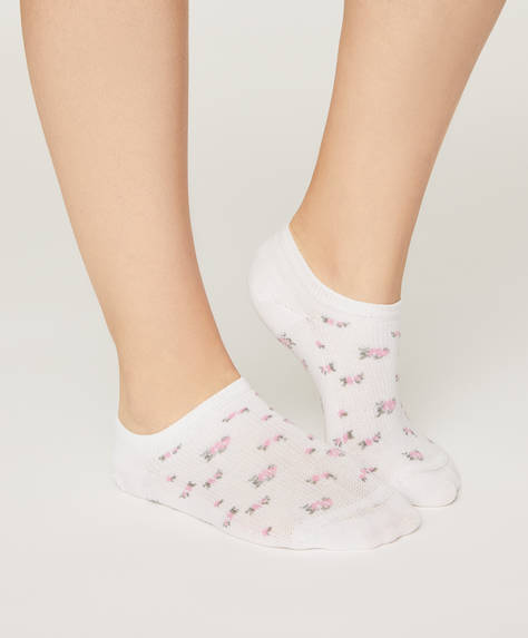 5 paires de chaussettes à fleurs