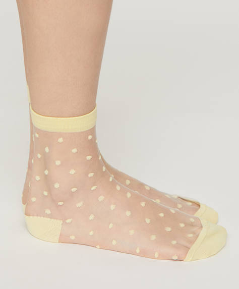 1 pair of dotty sheer socks