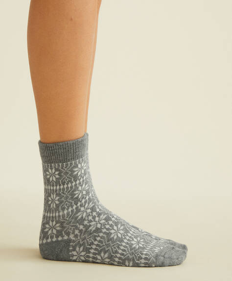 2 pairs of jacquard socks