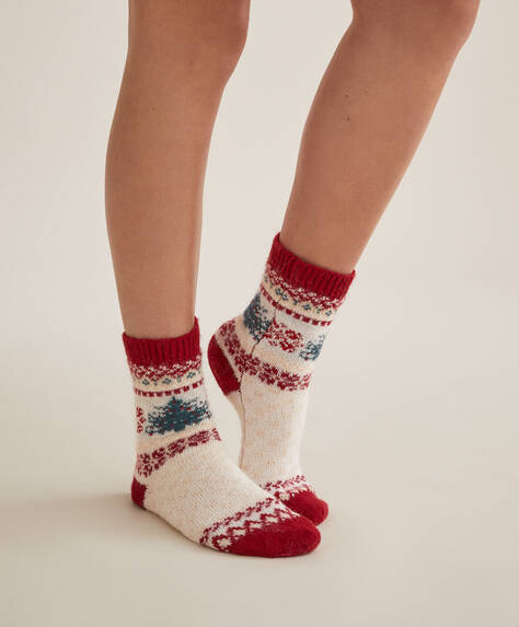 Christmas tree thick socks