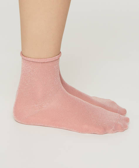 Plain metallic socks