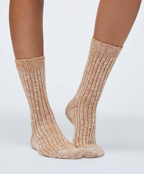 1 par de calcetines algodón lisos