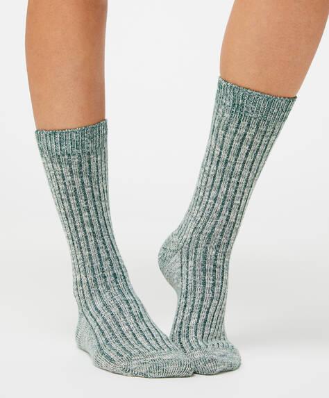Chaussettes en coton côtelé