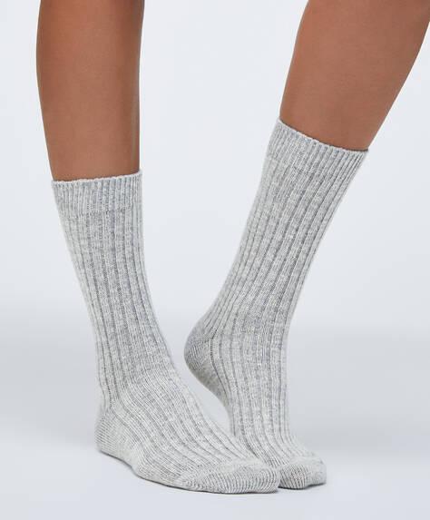 1 par de calcetines algodón liso