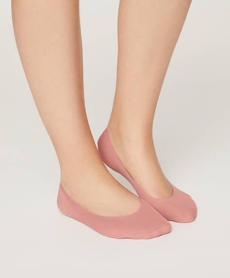 Pack of 2 pairs of ribbed footsies