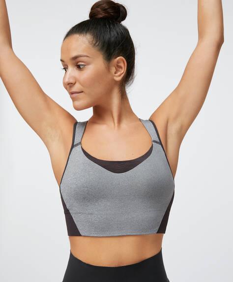 Mesh detail sports bra