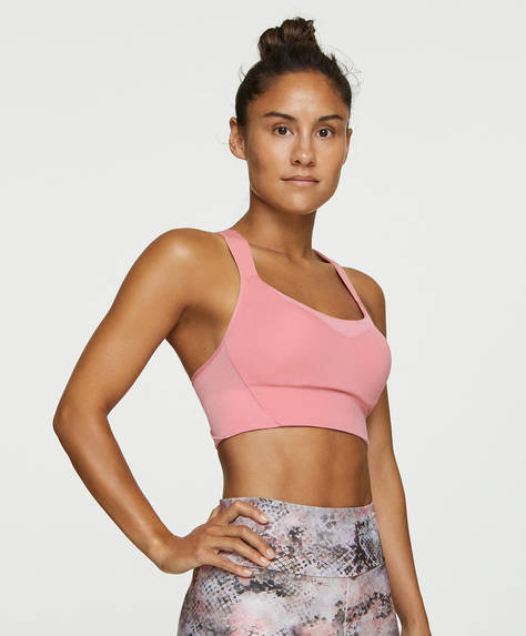 Stretch cropped top sports bra