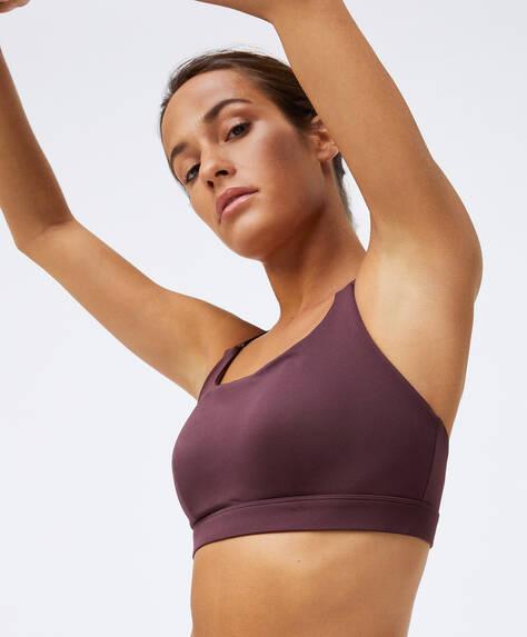 Triangle back sports bra
